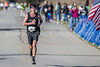 Ben Schmidt wins the Battleship North Carolina half-marathon Sunday November 6, 2016 in Wilmington, N.C.  Alan Morris/Star News