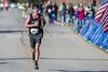 Ben Schmidt wins the Battleship North Carolina half-marathon Sunday November 6, 2016 in Wilmington, N.C.  Alan Morris/Star News