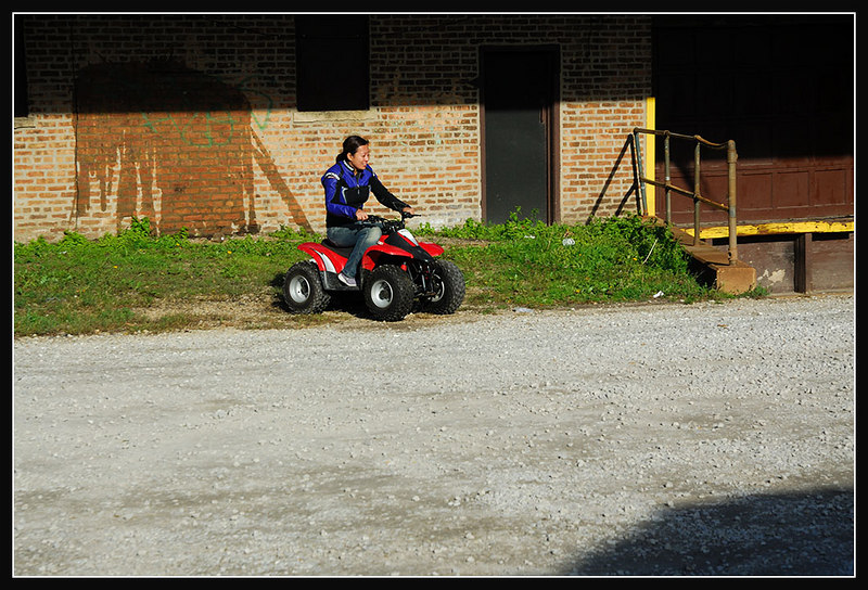 """Conne riding by """"crackhead loading dock"""" Which as you might assume is the loading dock where the crack heads hang out by my place..."""
