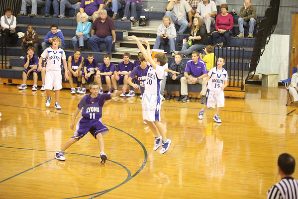 2010 CCMS 8th Basketball vs Lyon @ Home