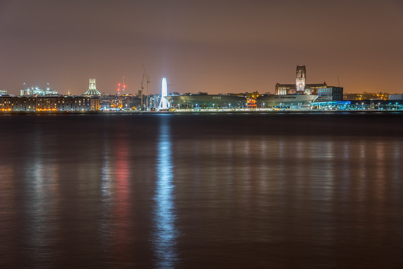 South Central End of Liverpool Waterfront at Night