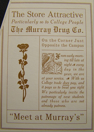 Spencer Center, Murray Drug Co. Ad in 1914 Nugget