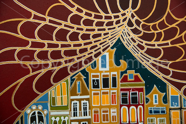 Curtain of Amsterdam (Acrylic on Canvas)