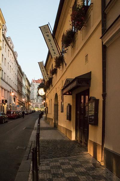 We ate at the oldest beer hall in Prague, U Fleku