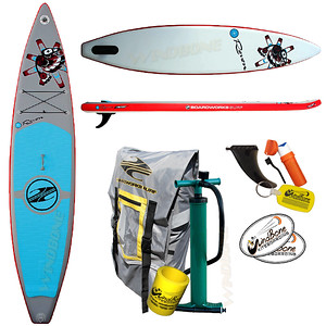 2017 Boardworks SHUBU Raven 12-6 Inflatable Racing SUP Stand Up Paddle Board
