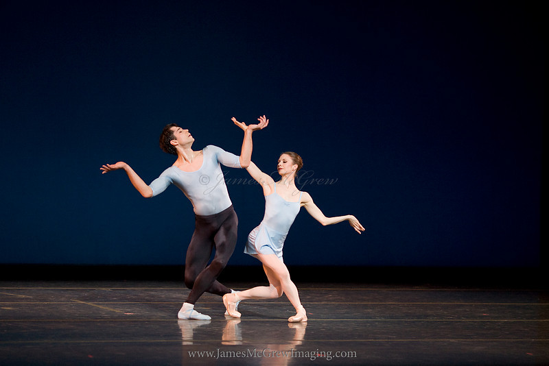 OBT principal dancers Artur Sultanov and Gavin Larsen in George Balanchine's Duo Concertant.