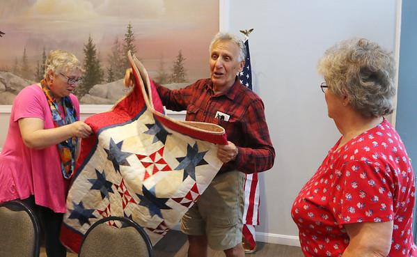 Quilts of Valor for Tewksbury veterans 090721