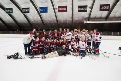 2/16/16: Girls' Thirds Hockey v Female Faculty
