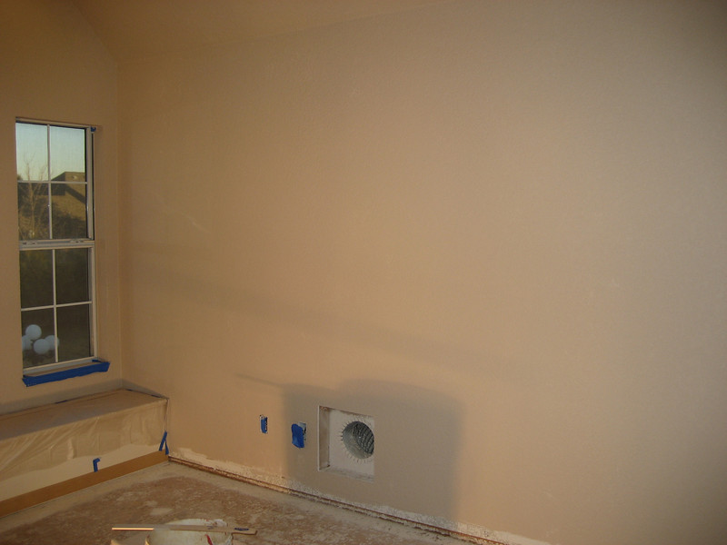 Various views of room after priming.