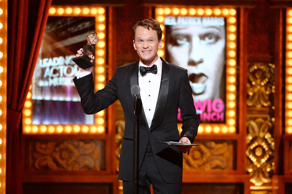 . Actor Neil Patrick Harris speaks onstage during the 68th Annual Tony Awards at Radio City Music Hall on June 8, 2014 in New York City.  (Photo by Theo Wargo/Getty Images for Tony Awards Productions)