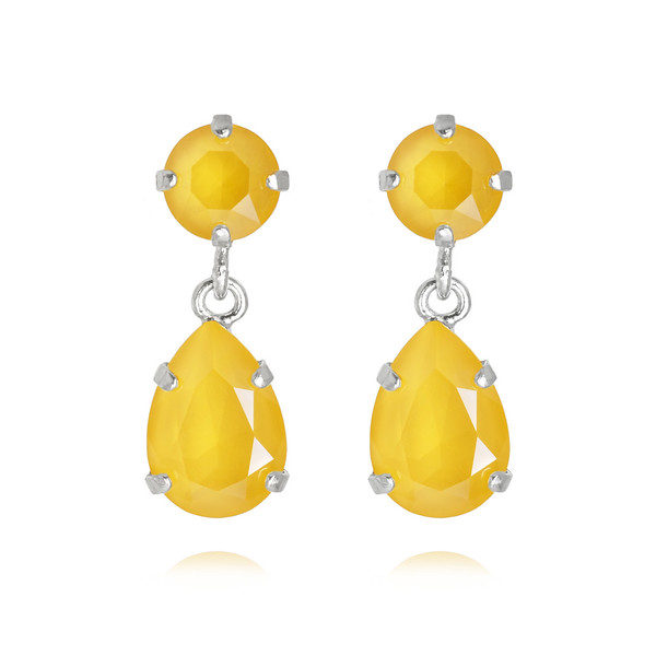 Mini Drop Earrings / Buttercup Rhodium