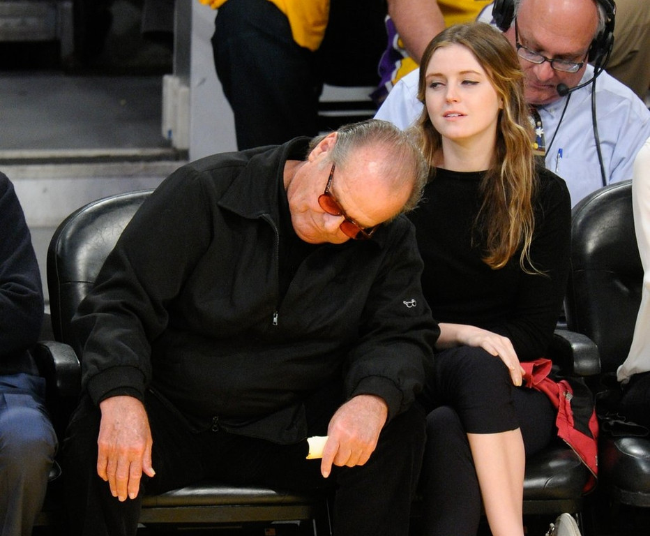 ". <p>6. JACK NICHOLSON <p>Despite retirement talk, just completed his greatest acting performance ever: Pretending to care about the 2013 Lakers. (unranked) <p><b><a href=\'http://www.usatoday.com/story/life/people/2013/09/04/jack-nicholson-retiring-buzz-stirs-up-chatter/2763019/\' target=""_blank\""> HUH?</a></b> <p>     (Noel Vasquez/Getty Images)"