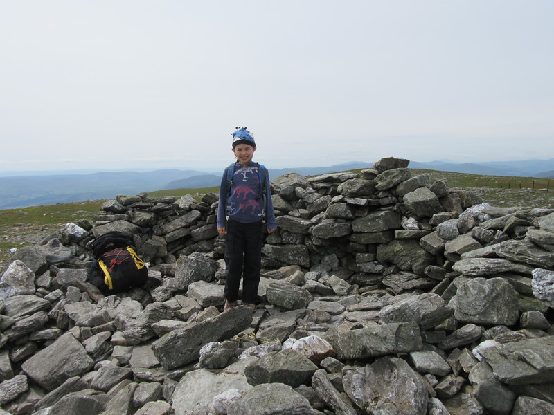 Ella at the summit of Ben Chonzie