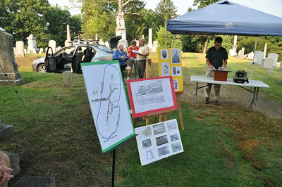 BATTLE OF THE CRATER PROGRAM AT THE CHARLES BABER CEMETERY POTTSVILLE 7-30-2014