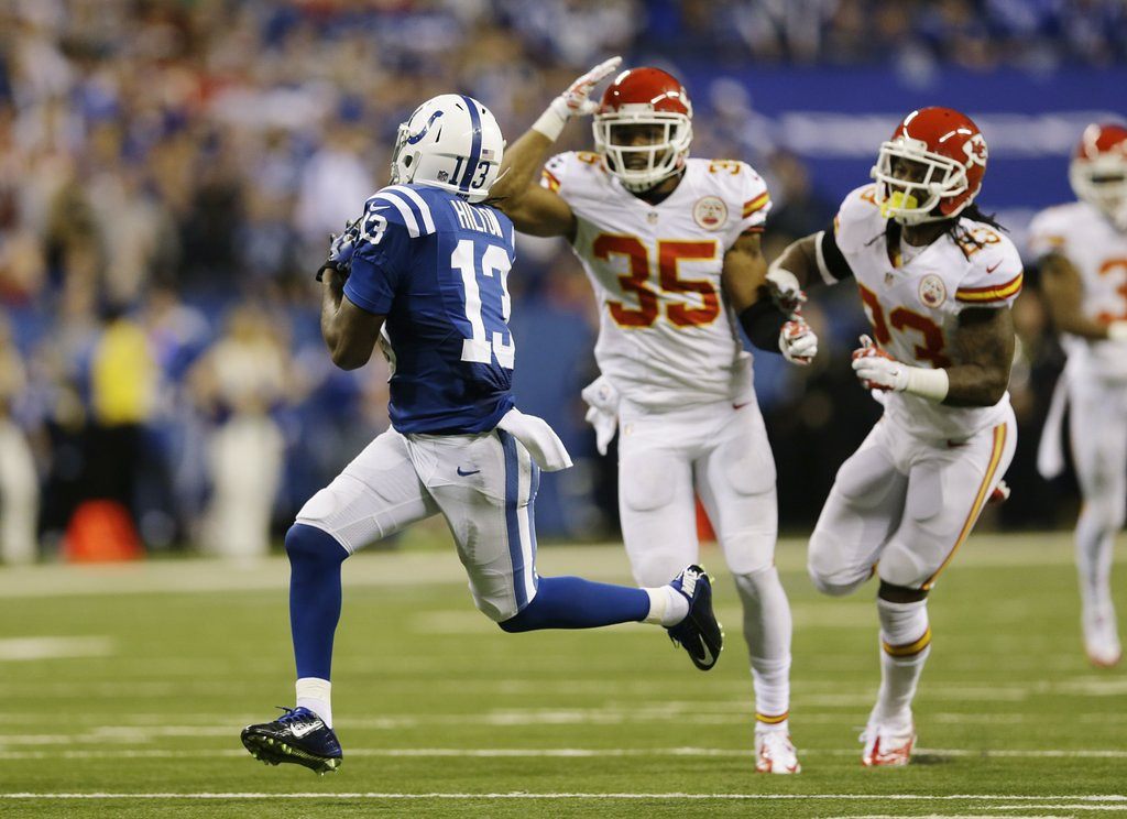 ". <p>8. KANSAS CITY CHIEFS <p>Only now realizing it might be a decent idea to cover T.Y. Hilton. (4) <p><b><a href=\'http://www.twincities.com/breakingnews/ci_24847431/luck-rallies-indy-45-44-playoff-win-over\' target=""_blank\""> HUH?</a></b> <p>   (AP Photo/Michael Conroy)"