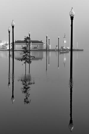 Boat Dock B&W