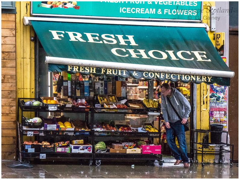 Rain canopy, South Clerk Street