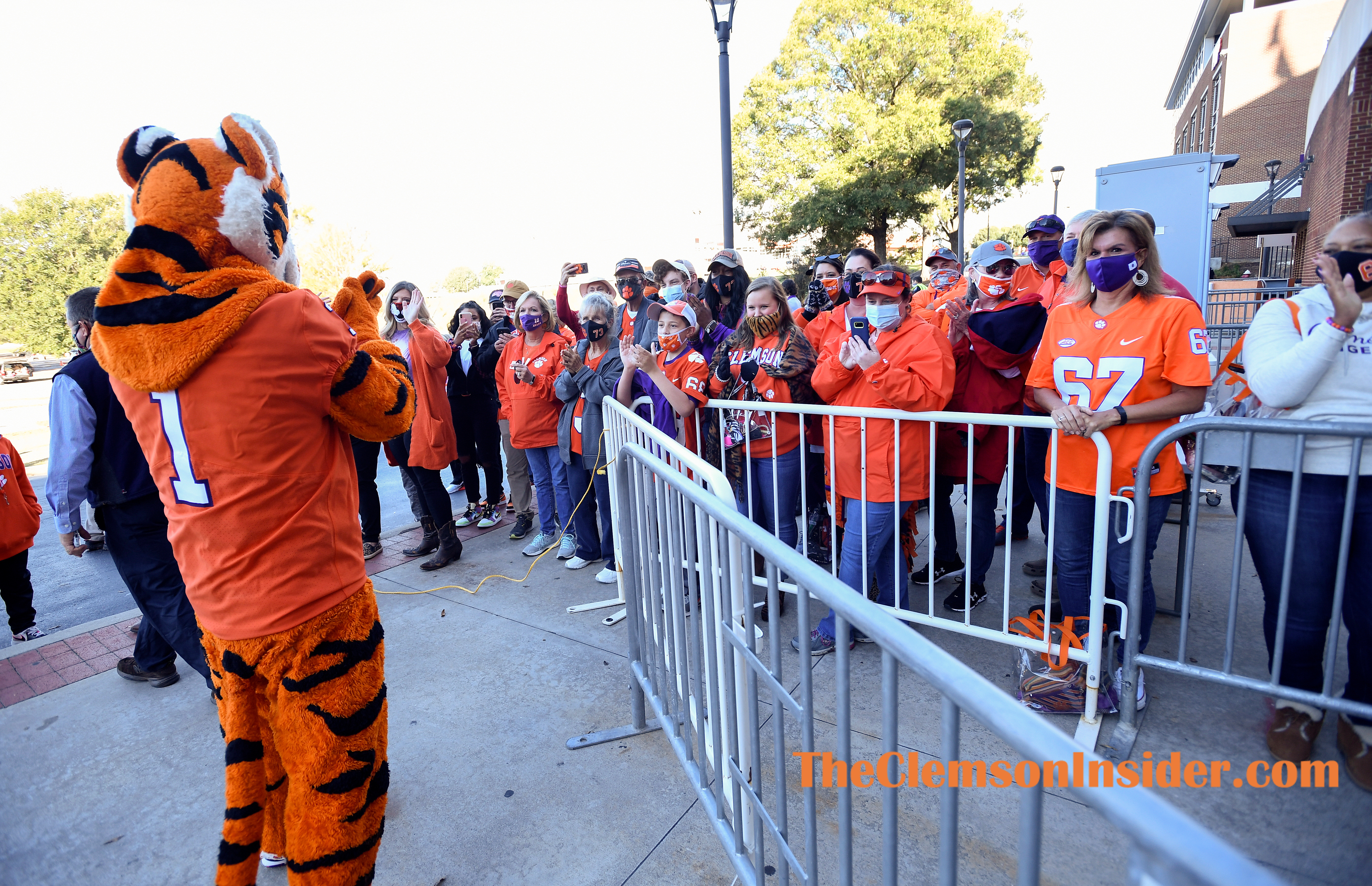 Clemson arrives at Clemson's Memorial Stadium before their game against Boston College Saturday, October 31, 2020. Bart Boatwright/The Clemson Insider