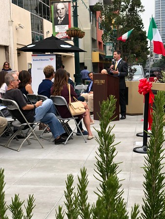Piazza Giannini Dedication Ceremony
