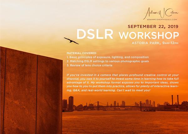 DSLR Workshop Promo Pieces, Adam W. Cohen Visuals