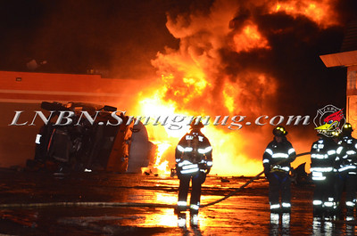 Bellmore F.D. Overturned Tanker with Fire Sunrise Highway 12-17-13