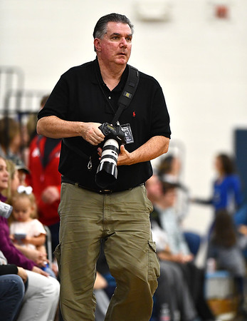 11/1/2019 Mike Orazzi | StaffrTJ Dowling during Friday night's girls volleyball match with Lyman Memorial in Bristol.