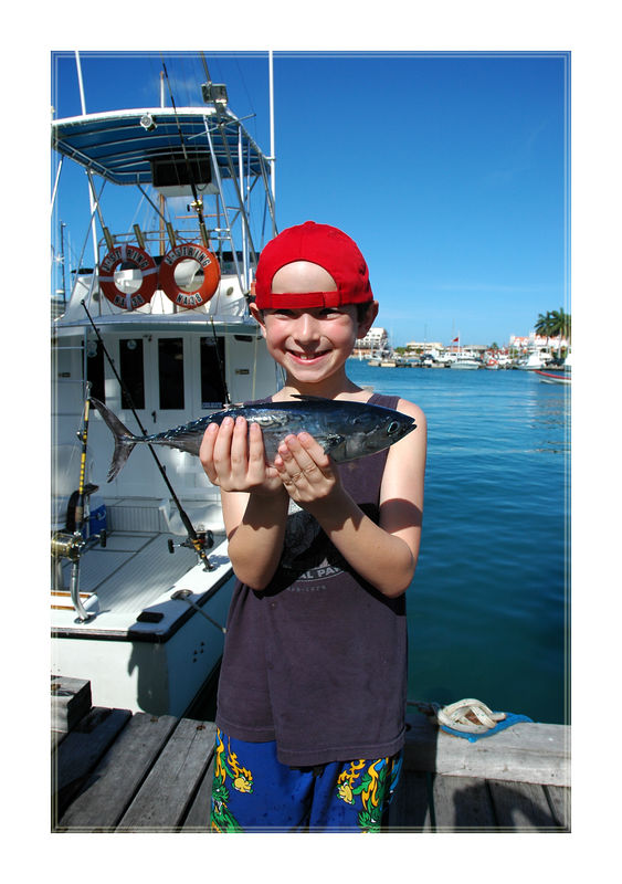 Larry holding a Tuna