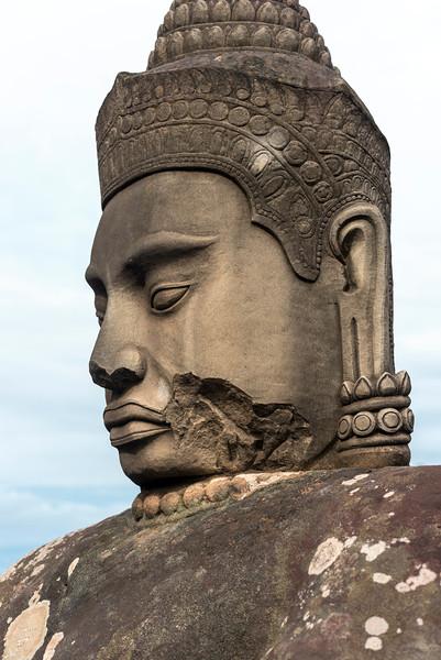 Statue, South Gate, Angkor Thom