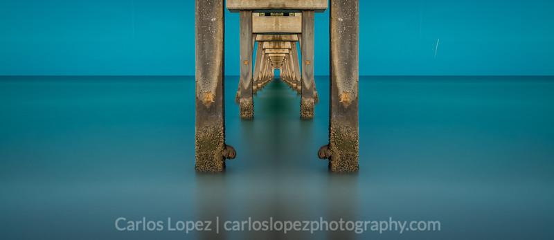 'Dania' Pier, Blue Hour