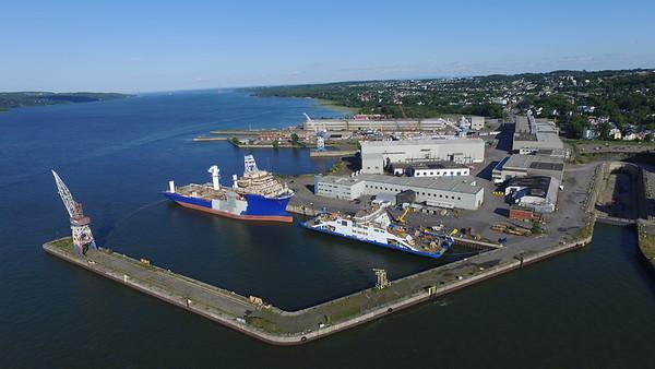 Ferry aerial at wharf