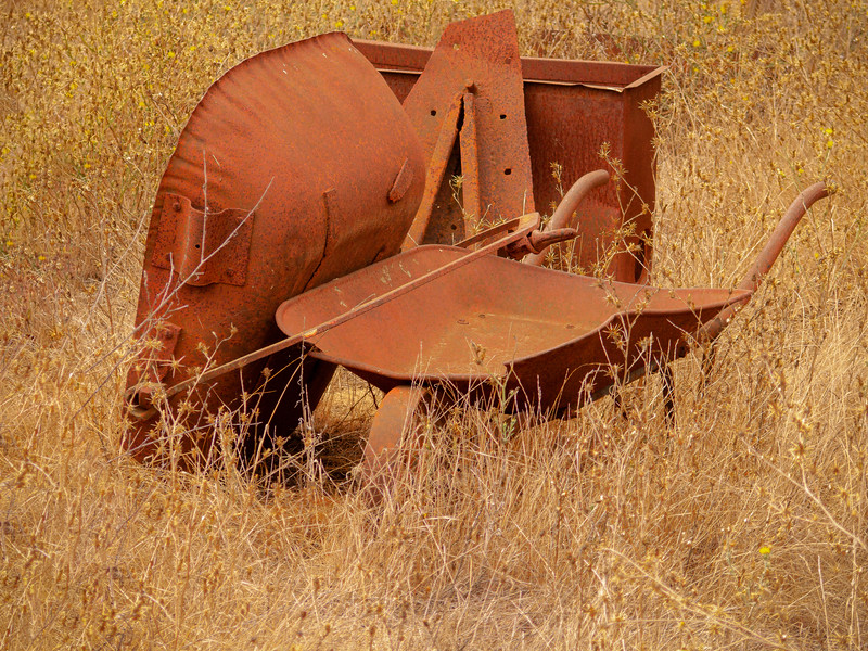 Wheelbarrow, Almaden Quicksilver County Park, California, 2007