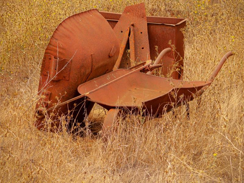 Wheelbarrow, Almaden Quicksilver County Park, California, 2007