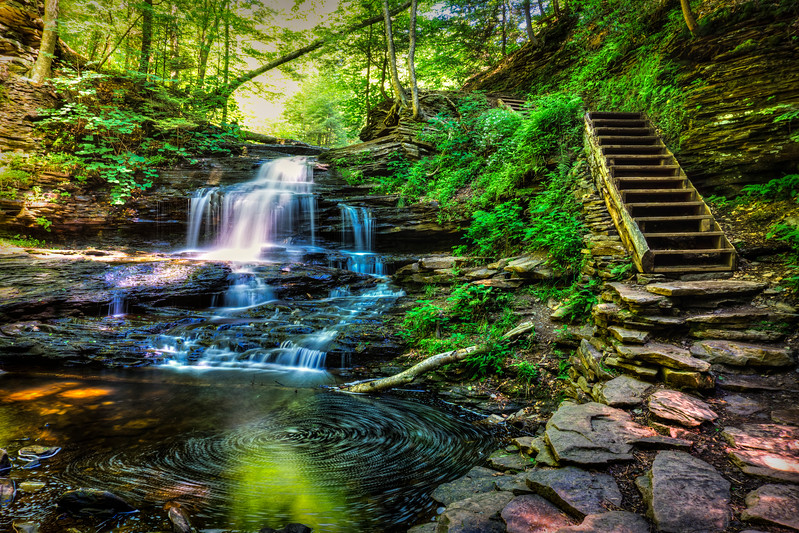 Ricketts Glen - Onondaga Falls Long Exposure (p).jpg