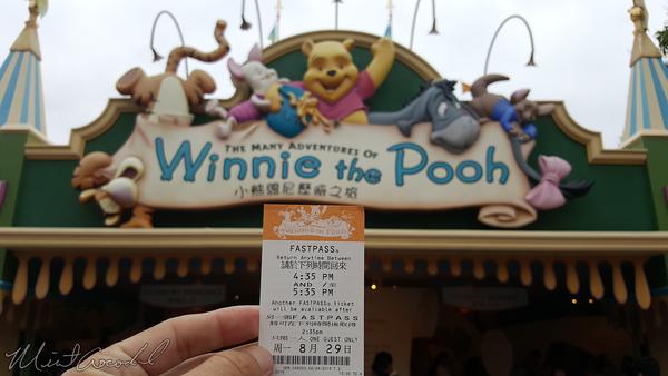 Disneyland Resort, Hong Kong Disneyland, Fantasyland, Winnie The Pooh, Winnie, Pooh, FastPass, Fast, Pass, Fast Pass