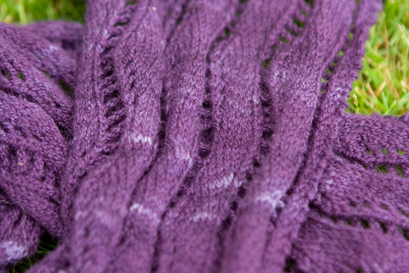 Knitting Notions Merino Lacewieght is very subtly kettle-dyed, so there's little bits of yarn where the saturation is different, but not very different.