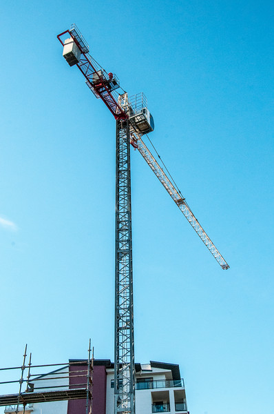 Erecting a Tower Crane. #42. of a 33+ Shot Photo series.
