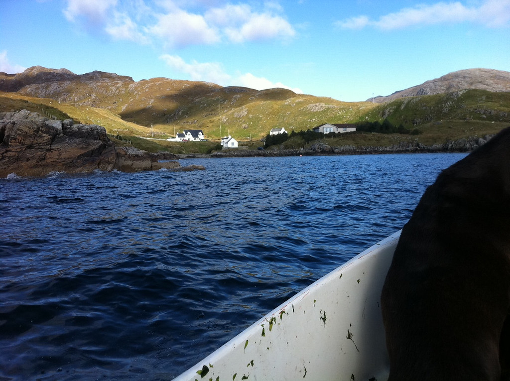 . This October 2013 photo shows the tiny village of Rhenigidale, Scotland, is viewed from a small approaching motorboat.  The only road to the village was built less than two decades ago. (AP Photo/Cara Anna)