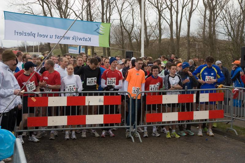 NK Veldloop voor Gemeenteambtenaren 2008. De startlocatie van alle afstanden. Start van de 9 km loop.