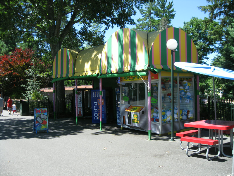 Coin-operated games kiosks.