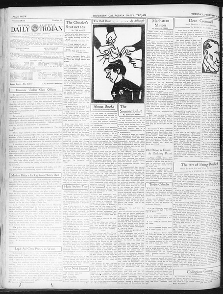 Daily Trojan, Vol. 23, No. 84, February 09, 1932