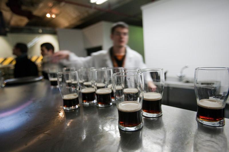 Tasting of beer, Guinness storehouse, Dublin, Ireland