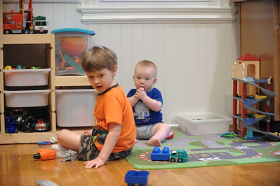 20120623 - Boys playing in the kitchen
