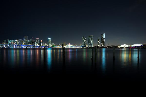 Miami Skyline at Night 03-30-2013