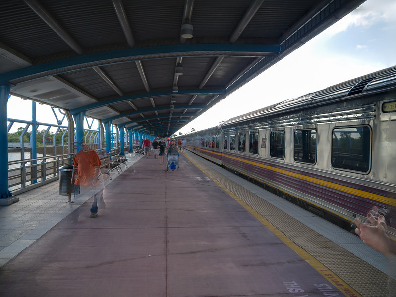 Our train while stopped at Townsville