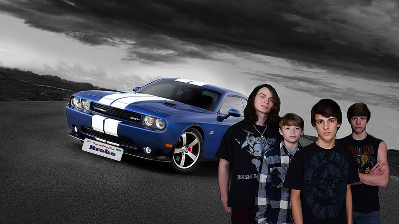 BROKE band pictures and Dodge Challenger