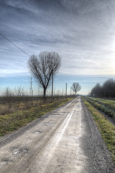 Dirt Road - Sant'Agata Bolognese, Bologna, Italy - December 29, 2012