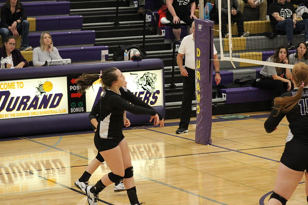 Durand Varsity volleyball, Oct. 10, 2019