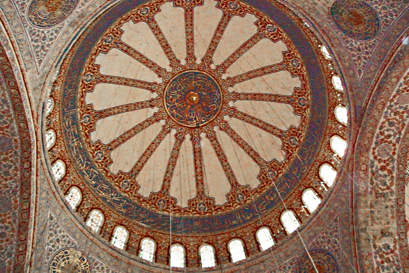 140. Blue Mosque, interior of dome.