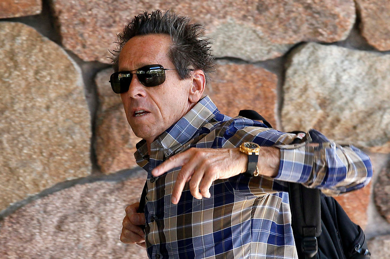 . Hollywood producer Brian Grazer arrives at the annual Allen and Co. conference in Sun Valley, Idaho July 9, 2013.  REUTERS/Rick Wilking