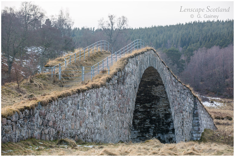 Sluggan Bridge over River Dulnain, near Carrbridge